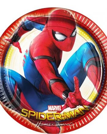 Spider-Man Homecoming Paper Party Plates
