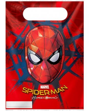 Spider-Man Homecoming Party Plastic Loot Bags
