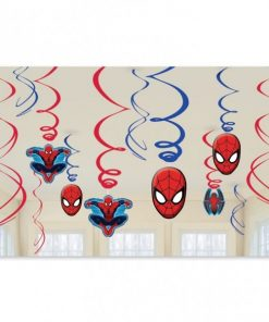 Spider-Man Party Hanging Swirls Decorations