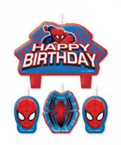 Spiderman Happy Birthday Candles