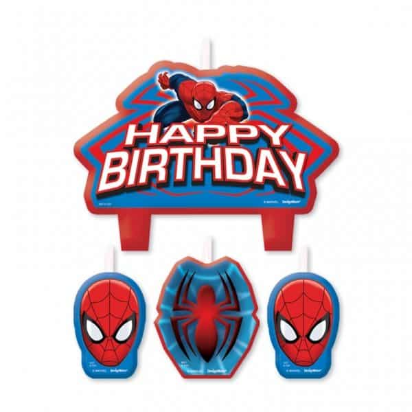 Spiderman Happy Birthday Candles