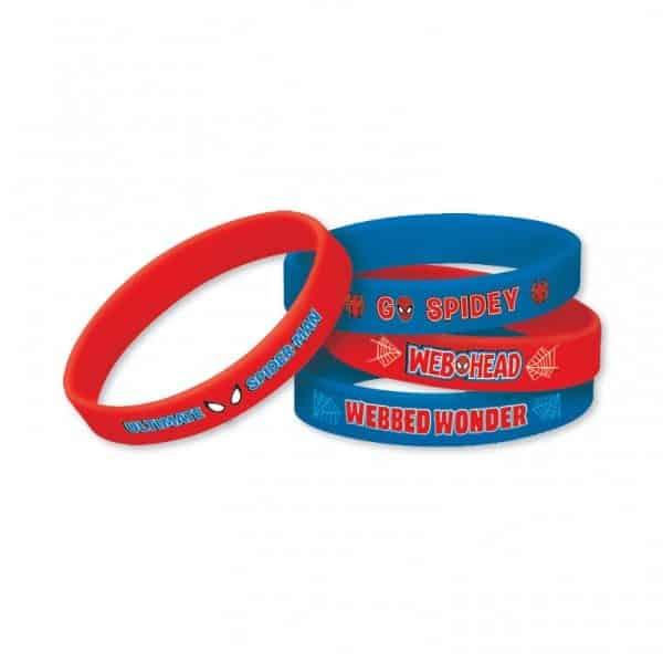 Spider-Man Party Bag Fillers - Rubber Bracelets