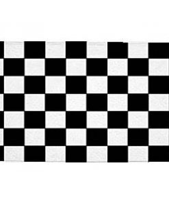 Black and white checked Finish Line Large Flag