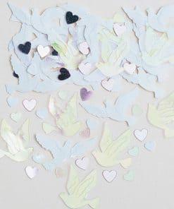 Iridescent Doves Table Confetti