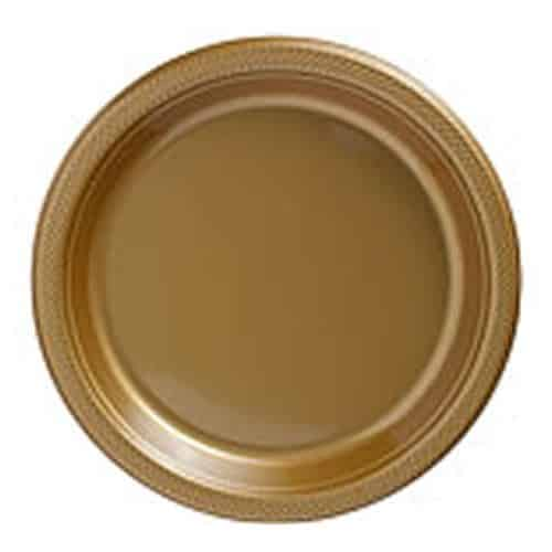 Gold Party Plastic Plates