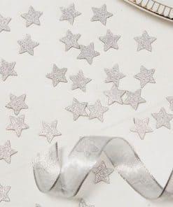 Metallic Perfection Silver Glitter Star Confetti