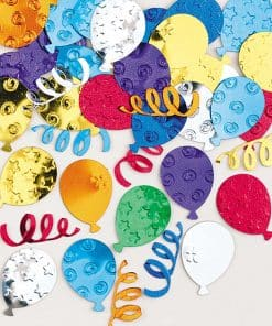 Party Balloons Multi Coloured Metallic Confetti