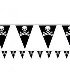 Pirate Flag Plastic Bunting