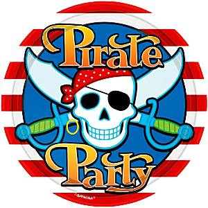 Pirate Skull Party Paper Plates