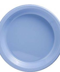 Pale Blue Party Plastic Plates