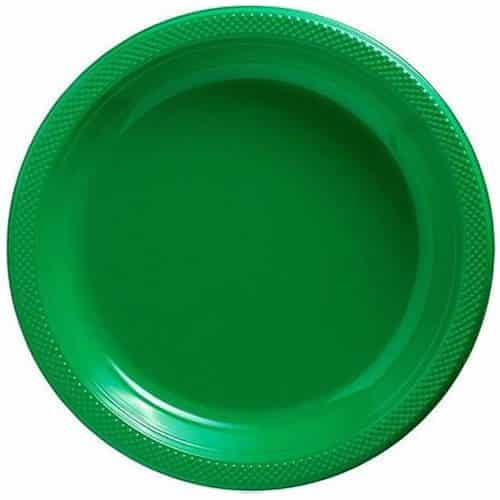Green Party Plastic Serving Plates