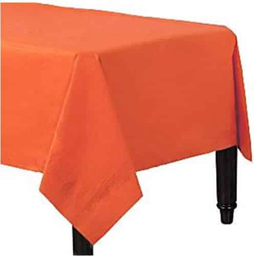 Orange Party Paper Tablecover