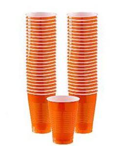 Orange Party Plastic Cups