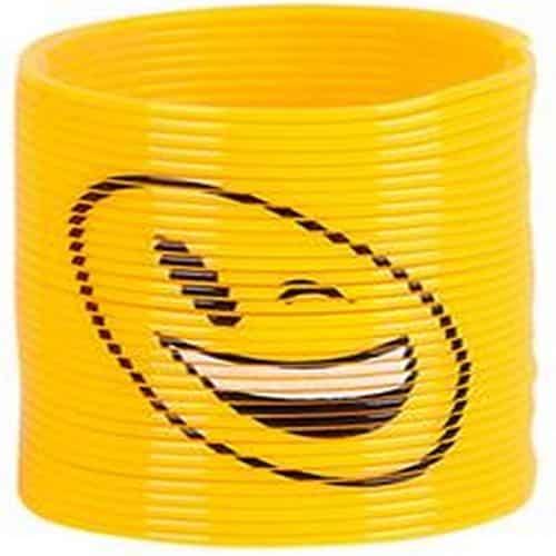 Yellow Smiley Face Mini Slinky