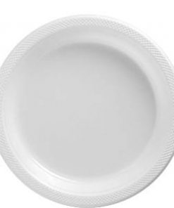White Plastic Party Plates