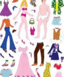 Fashion Doll Sticker Sheet