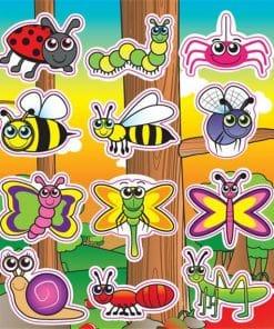 Garden Bugs Stickers