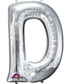 Silver Letter D Balloon
