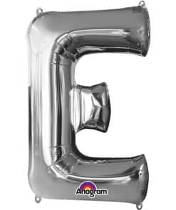 Silver Letter E Balloon