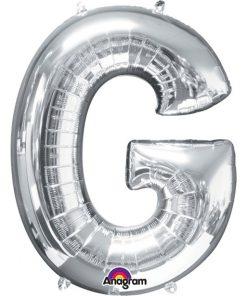 Silver Letter G Balloon