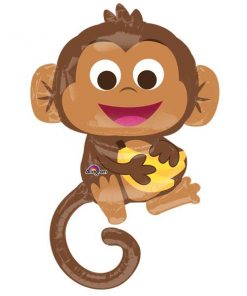 Happy Monkey Supershape Balloon