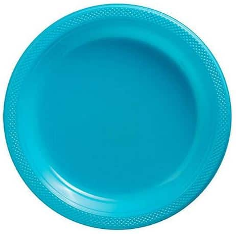 Turquoise Party Plastic Plates