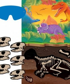 Dinosaur Party Pin The Dinosaur Skull Game