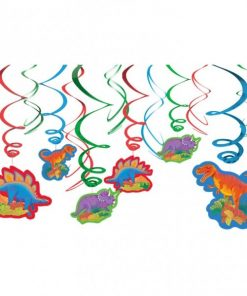 Prehistoric Dinosaur Party Hanging Swirls Decorations