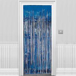 Blue Shimmer Door Curtain