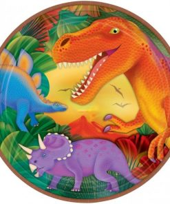 Prehistoric Dinosaur Party Large Paper Plates