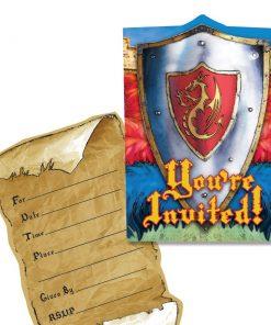 Valiant Knights & Castles Party Invitations