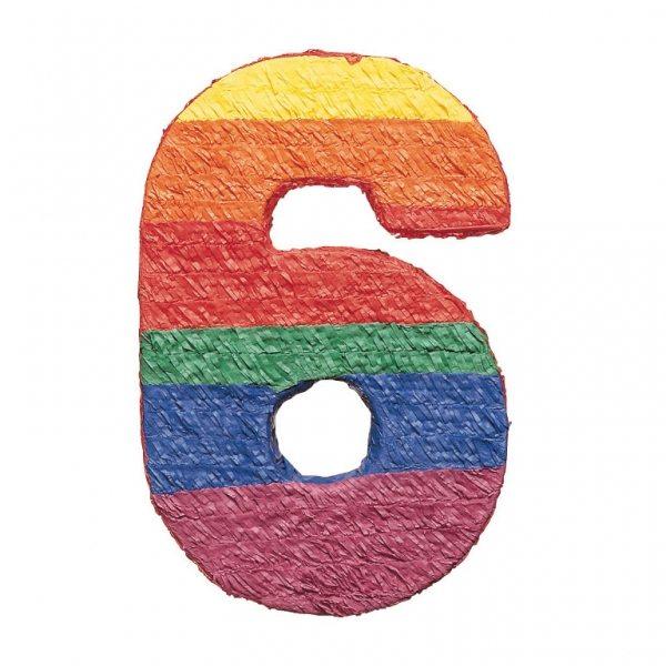 Number 6 Piñata