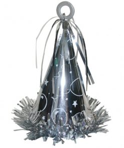 Large Silver Party Hat Weight