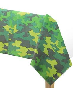 Army Camouflage Party Plastic Tablecover
