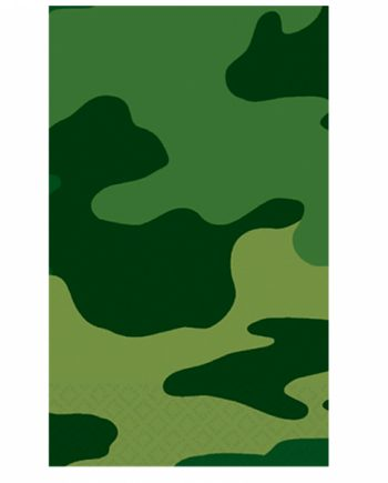 Army Camouflage Party Plastic Tablecovers