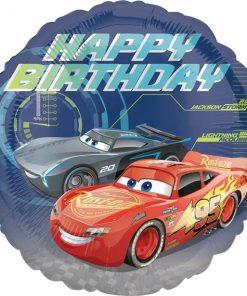 Disney Cars 3 Party Happy Birthday Foil Balloon