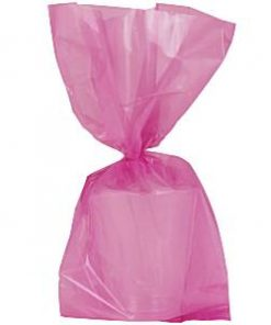 Hot Pink Large Cellophane Party Bags