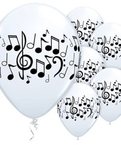 Music Notes Printed Latex Balloons