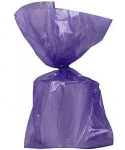 Purple Large Cellophane Party Bags