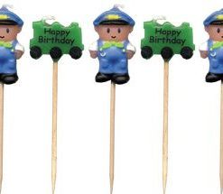 Train Driver Cake Candles