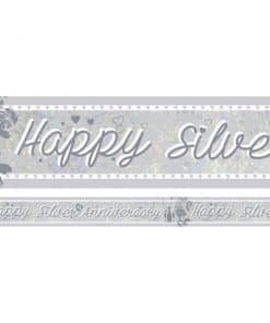 Holographic Silver Anniversary Foil Banner