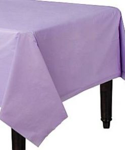 Lilac Plastic Tablecover - 1.4cm x 2.8cm