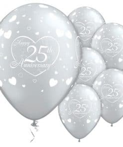 Little Hearts 25th Anniversary Balloons