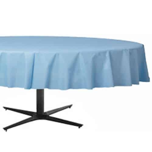Baby Blue Party Plastic Round Tablecover