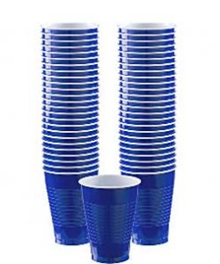 Royal Blue Party Plastic Cups