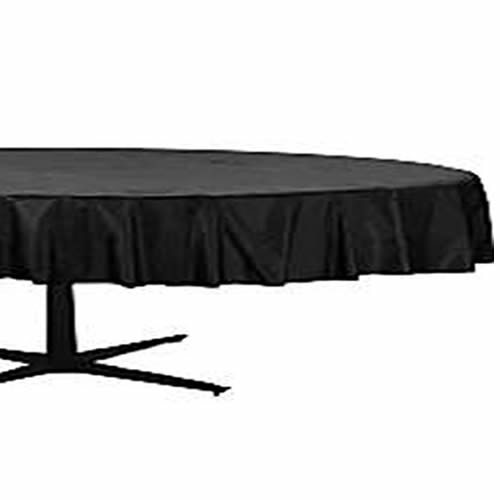 Black Round Plastic Tablecover