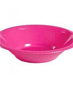 Hot Pink Plastic Bowls