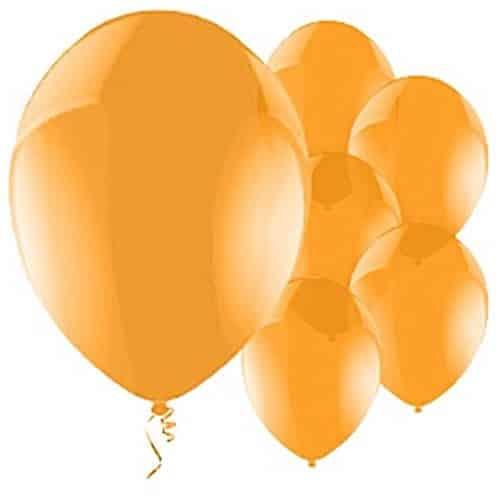 Celebration Orange Latex Balloons
