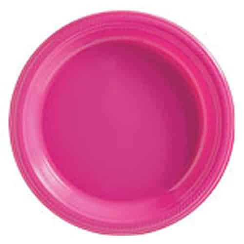 Hot Pink Party Plastic Plates