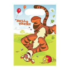 Winnie The Pooh Party Tigger Plastic Loot Bags